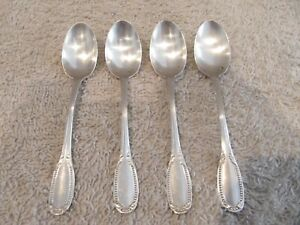 french sterling silver (950) 4 demi tasse spoons Louis XVI st pearls 48g 1,7oz