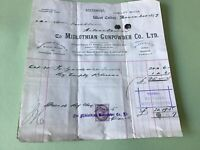 Midlothian Gunpowder Company 1892   Gunpowder Receipt  Ref R32206