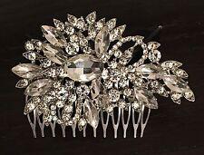 Crystal Rhinestone Hair Comb Headpiece Wedding Bridal Accessories Prom Party
