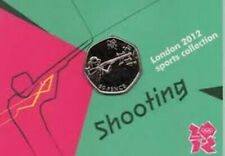 London 2012 Royal Mint Olympic SHOOTING 50p coin new ON CARD uncirculated
