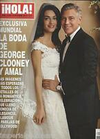 Hola Magazine George And Amal Clooney Wedding Miguel Boyer Isabel Preysler 2014