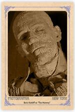 "BORIS KARLOFF  ""The Mummy"" 1932 Vintage Photo Cabinet Card CDV Horror RP"
