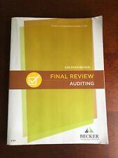 Becker CPA Exam - Auditing - Final Review