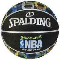 "Spalding NBA Hexagrip Neverflat 29.5"" Outdoor Basketball Black.Multi"