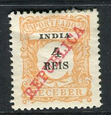 PORTUGUESE INDIA;  1911 early Postage Due issue Mint unused 4r. value