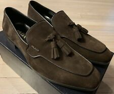 $600 Prada Brown Suede Loafers Size US 11 Made in Italy