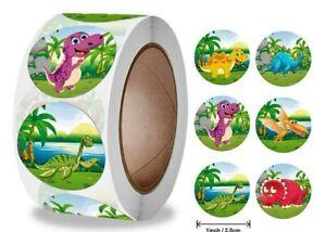 Super Cute Dinosaurs Reward Stickers Kids Home School Teacher Children 25mm