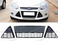 Honeycomb Front Hood Lower Grill Grilles Kits for Ford Focus 2012-2014