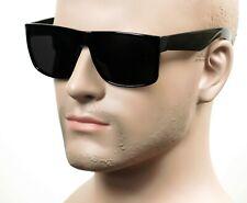 Large Square Cholo Sunglasses Super Dark OG LOC Style Gangster Black/Glossy 33SD