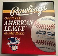 Rawlings Official American League Game Ball, 1992 - 1999, New In Box.