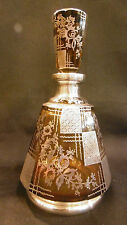 Amazing Art Deco Bohemian silver gilted Liquor set tumblers decanter