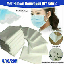 Melt Blown Nonwoven Fabric Cloth Mouth Face Craft DIY Filter Interlining 10m/20m