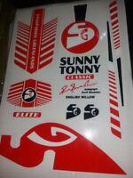 Brand New Superb SG Sunny Retro plain cricket Bat Stickers Fast Post