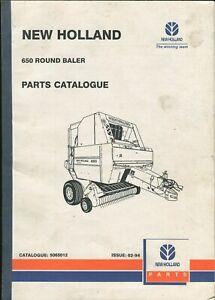 New Holland 650 Round Baler Parts Catalogue