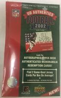 2002 Upper Deck Authentics Football Factory Sealed Hobby Box