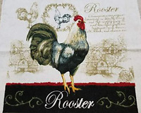 1 New Kitchen Crochet Top Towel #W281 - #W290 -- Roosters