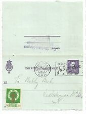 Denmark Stationery: 10 ore lettercard used plus label