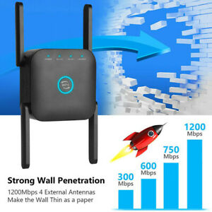 1200Mbps WiFi Range Extender  Wireless Amp Router Signal Booster