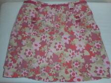 L. L.  Bean Girls size 12 Pink Beige Corduroy Floral fish skort 100% cotton
