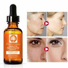 Vitamin C Serum w/ Hyaluronic HA, Ferulic Acid Organic Anti-Aging For Face+