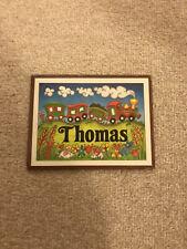 Vintage Childs Bedroom Name Sign Thomas