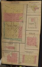 Illinois Warren County Map Alexis Greenbush Larchland 1912 Double Page L9#03
