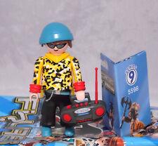 PLAYMOBIL 5598 Figures Boys serie 9 # 5 Hip-Hopper BOY CON RADIO NUOVO