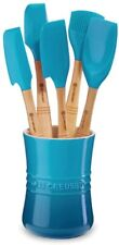 New listing Le Creuset 6 Piece Utensil Set Color: Caribbean Blue