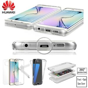 Shockproof 360 Clear Gel Case Cover for Huawei P20 P30 P40 Pro Lite Mate 20 pro