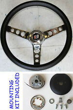 New! 1964-1966 Buick Skylark Gran Sport GRANT Black Steering Wheel 13.5""