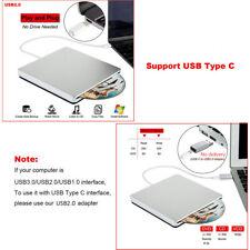 Slim External Type-C DVD RW CD Drive Writer Burner Reader Player For Laptop PC