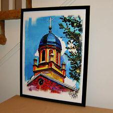 University of Dayton Church Dome, Ohio, Chapel, 18x24 POSTER w/COA