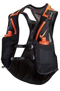 Nike Trail Kiger Vest Running Hydration Pack Black/Orange Unisex Sz XL New $185