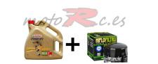 aceite moto castrol power 1 10w40 4l+ filtro hf 160