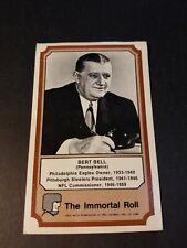 1975 FLEER TEAM CLOTH PATCH STICKERS THE IMMORTAL ROLL #23 BERT BELL ROOKIE FAIR