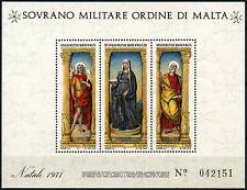 Souvereign Orden Militar de Malta estampillada sin montar o nunca montada Navidad 1971 m/s #D49477