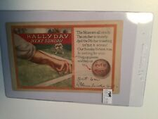 1929 Baseball rare Rally Day Postcard