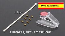 PIEDRAS DE MECHERO MECHA ENCENDEDORES KIT 7 PIEDRAS Y MECHA STONE FLINT WICK