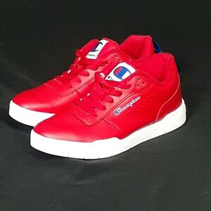 🌟Champion Men's Court Classic Athletic Leather Shoes Red Size 8 US M🌟