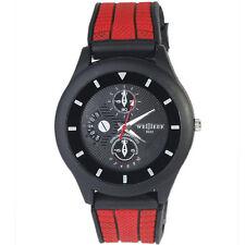 Luxury Sport Men's Quartz Wrist Watch Fashion Analog Casual Black Red Watch Band