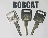 (3) Bobcat Keys fits Skid Steer, Mini, D250 Ignition Keys fits Case, LOGO 1 side
