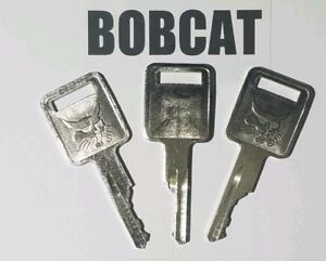 (3) Bobcat Keys fits Skid Steer, Mini, D250 Ignition Keys fits Case, Farmall