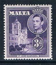 Malta 1938-43 3d Dull violet SG 223 MNH