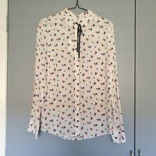 MARCS Beating Heart Silk Shirt Sz 10 BNWT