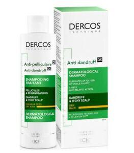 Vichy Dercos Anti Dandruff Treatment Shampoo For Dry Hair 200ml Paraben Free New