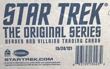 STAR TREK ORIGINAL SERIES - TOS - HEROES & VILLAINS Factory Sealed Case 12 Boxes