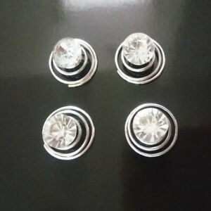 12pcs Women Wedding Bridal Crystal Flower Twist Spiral Hair Pins Clips Gift