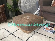 Floor Cushion | Vintage Moroccan Pouffe made of Sabra  Rug |  | Unstuffed Cover.