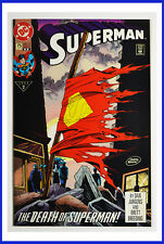 Death of Superman #75 DC January 1993 Gatefold Cover No Bar Code VFN+ Comic Book