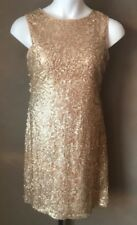 Donna Ricco Dress Sequin Sparkly Cocktail Sheath Mesh Illusion Lined Size 12